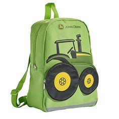 Lime Green Tractor Backpack