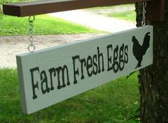 Farm Fresh Eggs Sign with Bracket for Hanging (Stone Gray & Silver Crackle) Pet Chickens, Raising Chickens, Chickens Backyard, Chicken Barn, Chicken Coop Signs, Fresh Chicken, Chicken Eggs, Selling Eggs, Farmers Market Sign