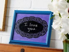 Chalkboard doily message board