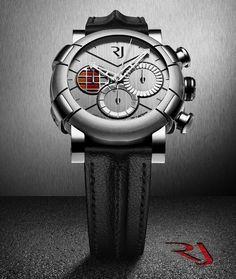Watch made of DeLorean pieces