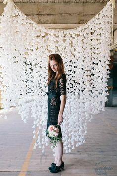 Decoration ideas wedding preparation hanging deco