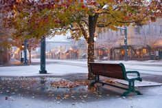 coeur d'alene downtown first snow