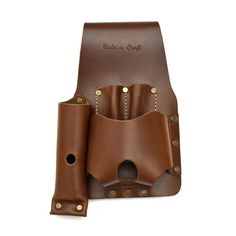 Style n Craft 98000 Cordless Drill Holster in Heavy Top Grain Leather in Dark Tan Color