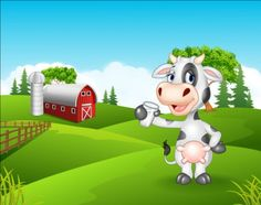 Cartoon cow with farm vectors 04 - https://www.welovesolo.com/cartoon-cow-with-farm-vectors-04/?utm_source=PN&utm_medium=welovesolo59%40gmail.com&utm_campaign=SNAP%2Bfrom%2BWeLoveSoLo