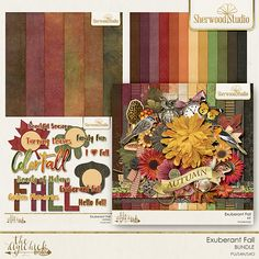 Digital scrapbooking kit Sherwood Studio EXUBERANT FALL http://www.thedigichick.com/shop/Exuberant-Fall-Bundle.html