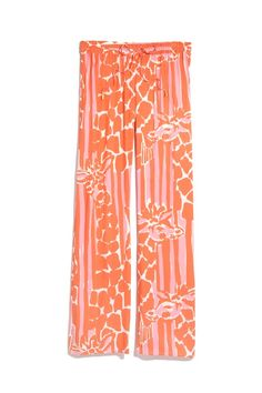 LillyPulitzerforTarget Orange and White Palazzo Pants