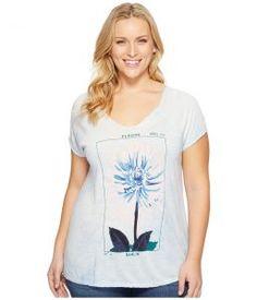 Lucky Brand Plus Size Dahlia Tee (Skyway) Women's T Shirt