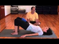 Block Between the Thighs to Bridge -- Attempting to engage the inner thighs; avoiding gripping the butt; keeping the outer thighs out of the picture; moving to bridge without tucking the pelvis; engaging the gluteus maximus and hamstrings correctly.