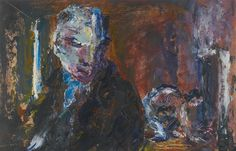Jack Butler Yeats (Irish, There's life in the fire yet, Oil on canvas laid down on board, x in. Irish Painters, Jack B, Irish Art, Logo Design, Graphic Design, Contemporary Paintings, Butler, Oil On Canvas, Horror