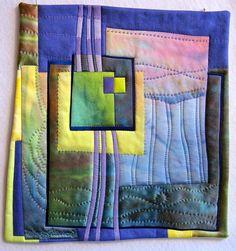 Fibermania: Collaborating with Georgina Small Quilts, Mini Quilts, Weaving Textiles, Contemporary Quilts, Quilt Stitching, Patch Quilt, Quilting Designs, Art Quilting, Fabric Art