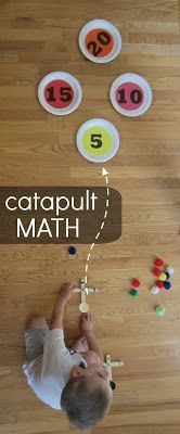 Catapult Addition {a DIY Math Game}.  OMG!  How fun is this?????