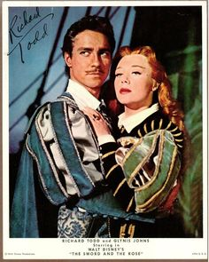 Richard Todd and Glynis Johns in The Sword and the Rose.