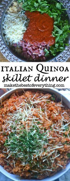 Italian Quinoa Skillet Meal