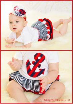 Nautical Girl Sailor Dress Boutique Fashion  by BabyMeFashion, $47.99