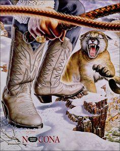 Nocona Boots Heroes Poster - Bobcat