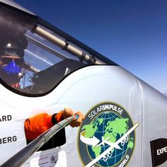 SOLAR IMPULSE Selfie -  Yes planes can fly on 100% solar energy! While flying #Si2, +Bertrand Piccard and +André Borschberg took amazing pictures! Enjoy them http://www.solarimpulse.com/pilots and stay tuned for the shots to come during the #Pacific crossing!
