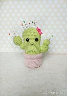crochet cactus knitted cactus needle crochet cactus amigurumi cactus handmade cactus Crochet home decor Desk decorations stuffed cactus – Best Amigurumi Crochet Cactus, Crochet Pincushion, Crochet Flowers, Amigurumi Doll, Amigurumi Patterns, Crochet Patterns, Cactus Amigurumi, Kawaii Crochet, Cute Crochet