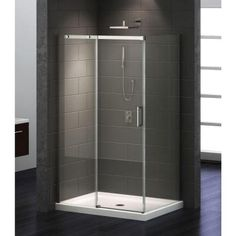 1646029445e 3-Piece Shower Stall in Chrome-100937 - The Home Depot