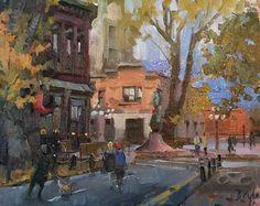 "Jose De Juan, ""Not a dull moment"" Gassy Jack. 8""x10"" oil on canvas"