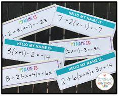 classroom tips, teaching ideas & resources for teaching high school math Algebra Activities, High School Activities, First Day Of School Activities, Math Resources, Math Games, High School Classroom, Math Classroom, School Fun, Middle School