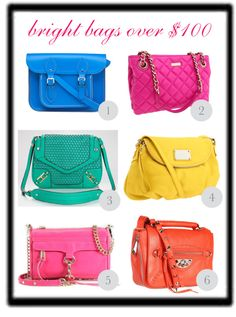 Cupcakes & Couture: Bright Handbags for Summer