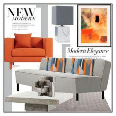 """Modern Elegance"" by littlefeather1 ❤ liked on Polyvore featuring interior, interiors, interior design, home, home decor, interior decorating, Regina-Andrew Design, Blu Dot, Greta Grossman and Morley"