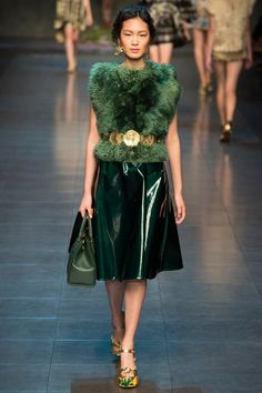 Dolce & Gabbana Spring/Summer 2014 Ready-to-Wear Collection via Designers Domenico Dolce & Stefano Gabbana; modeled by Chiharu Okunugi