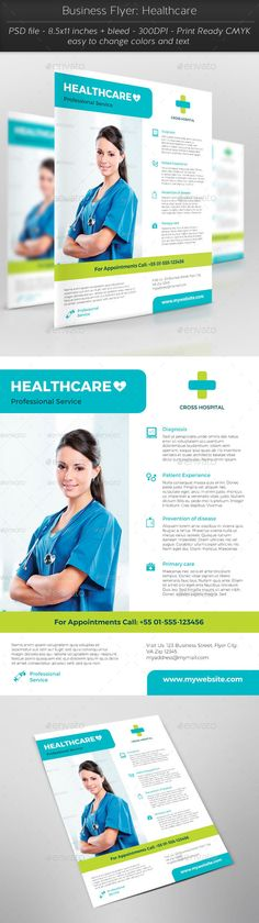 Home Health Care Flyer Templates Flyer template, Health care and - healthcare brochure