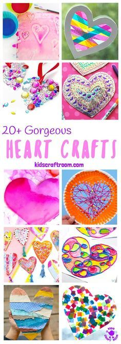 GORGEOUS HEART CRAFTS FOR KIDS - We've gathered together 20+ Heart Crafts For Kids that are stunning! All of these heart ideas are really achievable and most can be made with the type of supplies you've probably got in your art and craft cupboard already. Your kids will love them! Great for Mother's Day, Valentines or any time you want to spread a little love. #heart #heartcrafts #valentinesday #valentinecraft #valentinesdaycrafts #kidscrafts #craftsforkids #kidsactivities via @KidsCraftRoom
