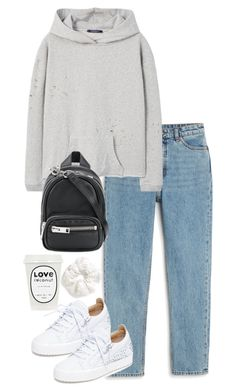 """""""Untitled #5235"""" by theeuropeancloset ❤ liked on Polyvore featuring Monki, MANGO, Giuseppe Zanotti, Alexander Wang and Topshop"""