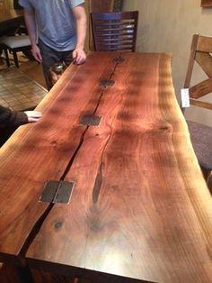 LIVE EDGE BLACK WALNUT SLAB TABLE WOOD HARVEST TABLE: Iu0027m Not Sure If