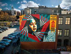 Shepard Fairy in Providence, Rhode Island, USA, 2019 Shepard Fairy, Shepard Fairey Obey, Campaign Posters, Street Artists, Graphic Design, Illustration, Rhode Island, Cloud, Graffiti