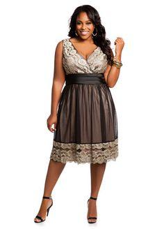 SL Fashions Plus Size Dress, Sleeveless A-Line Ruched - Plus Size ...