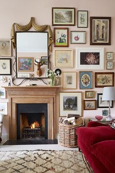Looking for small living room ideas? The best small living room designs from the House & Garden archive. Small Living Room Design, Living Room Red, Living Room With Fireplace, Small Living Rooms, Living Room Designs, Living Room Decor, Cosy Fireplace, Fireplace Ideas, Country Fireplace