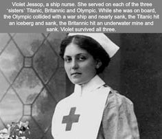 Funny // The nurse that survived The Titanic The Britannic and the Olympic. Wow Facts, Wtf Fun Facts, True Facts, Funny Facts, Funny Memes, Random Facts, Funny History Facts, Funny Quotes, Wtf Funny