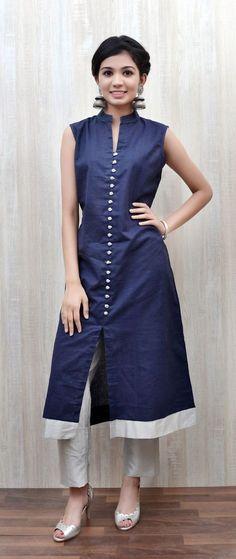 Guide to Shop Best Plain Salwar Suit Design Churidar Designs, Kurti Neck Designs, Blouse Designs, Pakistani Dresses, Indian Dresses, Indian Outfits, Kurti Patterns, Dress Patterns, Indian Attire