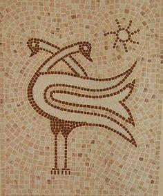 Handmade Mosaic of two Swans