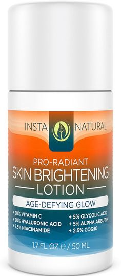 Skin Brightening Lotion - InstaNatural | Natural & Organic. The active ingredients list looks promising. But further knowledge about this brand is required! XD