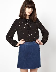 Boutique by Jaeger Blouse in Bee Print