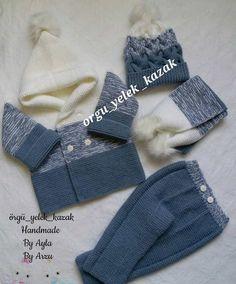 Baby Boy Knitting, Baby Knitting Patterns, Hand Knitting, Crochet Flower Patterns, Crochet Flowers, Filet Crochet Charts, Crochet For Boys, Baby Booties, Baby Dress