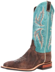 Justin Boots Women's Bent Rail Boot: Chocolate Puma/America Blue