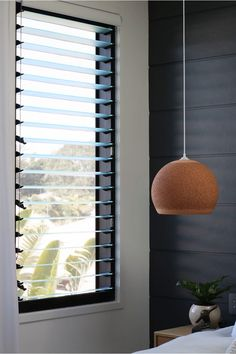 In the Master Bedroom in we used a gorgeous bank of louvred windows to connect the bedroom to the Byron Bay Breeze… Sourced from Trend Windows in their new Textura finish these windows look and feel undeniably luxe. Byron Bay Accommodation, Louvre Windows, Bedding Master Bedroom, Grey Room, Window Coverings, Window Treatments, Custom Windows, Cozy Bed, House Design