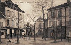 place du Tertre - Paris 18e Montmartre - le coin Nord-Ouest de la place du Tertre (ancienne carte postale - vers 1900)
