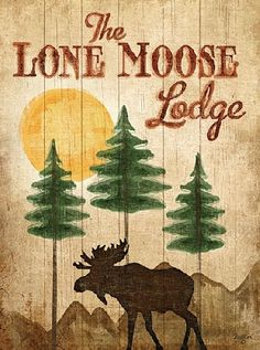 Lone Moose by artist Mollie B.