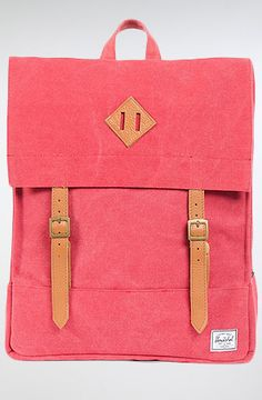 HERSCHEL SUPPLY The Survey Backpack in Washed Red Canvas : MissKL.com - Cutting Edge Women's Fashion, Accessories, Shoes & Beauty. The Originators. Shop. Party. Play.  #MissKL #SpringtimeinParis