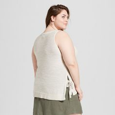 edd83d2a9dd Women s Plus Size Sleeveless V-Neck Tank Top - Prologue™   Target ...