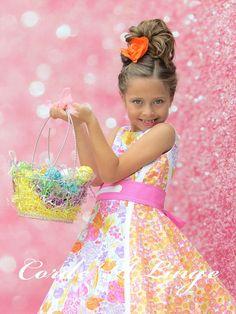 Girls Spring Dresses Carrots Easter Dress Spring Dress Easter Bunny Hunt Girls Dress Carrot Dress Bunny Dress