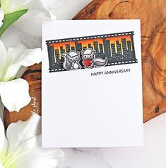 Hello there and welcome to day three of the Clearly Besotted December 2019 Teasers. The new products release on Sunday and today I have a . Happy Anniversary, Anniversary Cards, Wedding Anniversary, Film Strip, Love Valentines, Hero Arts, Copic Markers, New Love, Teaser