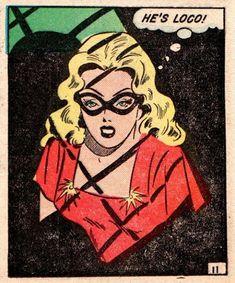 "Comic Girls Say.. ""He's loco!"" #comic #popart #vintage"