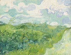 Vincent van Gogh, Green Wheat Fields, Auvers, I'd love a print of this; this is a Van Gogh I've yet to see. Claude Monet, Vincent Van Gogh, Van Gogh Art, Art Van, National Gallery Of Art, Van Gogh Pinturas, Van Gogh Paintings, Wheat Fields, Kunst Poster